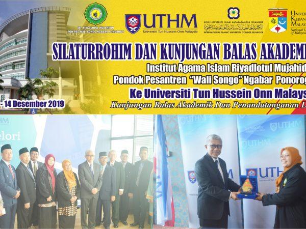 Silaturahmi,  Kunjungan Balas Akademik Serta Penandatanganan LOI. UTHM Malaysia
