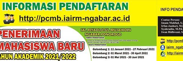 Penerimaan Mahasiswa Baru Tahun Akademik 2021-2022